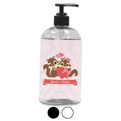 Chipmunk Couple Plastic Soap / Lotion Dispenser (Personalized)