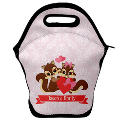 Chipmunk Couple Lunch Bag w/ Couple's Names