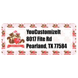 Chipmunk Couple Return Address Label (Personalized)