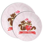 Chipmunk Couple Melamine Plate (Personalized)