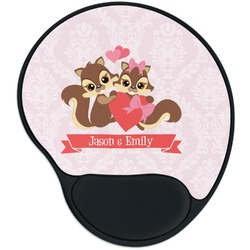 Chipmunk Couple Mouse Pad with Wrist Support