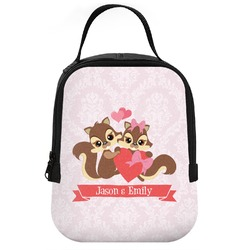 Chipmunk Couple Neoprene Lunch Tote (Personalized)