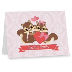Chipmunk Couple Notecards (Personalized)