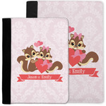 Chipmunk Couple Notebook Padfolio w/ Couple's Names