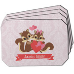 Chipmunk Couple Dining Table Mat - Octagon w/ Couple's Names