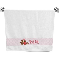 Chipmunk Couple Bath Towel (Personalized)