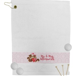 Chipmunk Couple Golf Towel (Personalized)