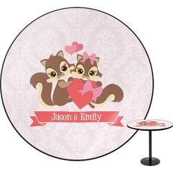 Chipmunk Couple Round Table (Personalized)