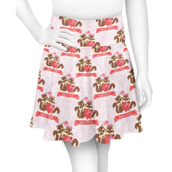 Chipmunk Couple Skater Skirt (Personalized)