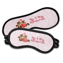 Chipmunk Couple Sleeping Eye Masks (Personalized)
