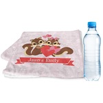Chipmunk Couple Sports & Fitness Towel (Personalized)