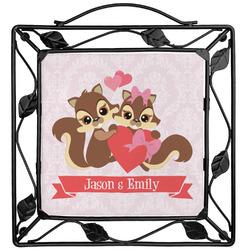 Chipmunk Couple Trivet (Personalized)