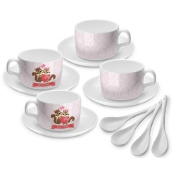Chipmunk Couple Tea Cup - Set of 4 (Personalized)