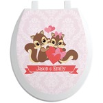 Chipmunk Couple Toilet Seat Decal (Personalized)