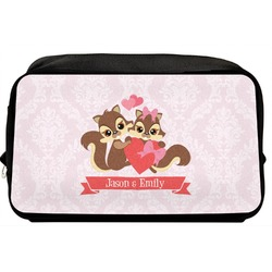 Chipmunk Couple Toiletry Bag / Dopp Kit (Personalized)