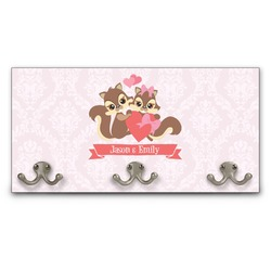 Chipmunk Couple Wall Mounted Coat Rack (Personalized)
