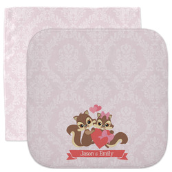 Chipmunk Couple Facecloth / Wash Cloth (Personalized)