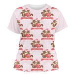 Chipmunk Couple Women's Crew T-Shirt (Personalized)