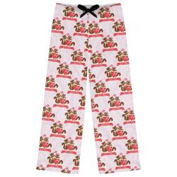 Chipmunk Couple Womens Pajama Pants - XL (Personalized)