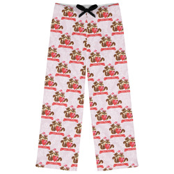 Chipmunk Couple Womens Pajama Pants - XL (Personalized)