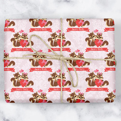 Chipmunk Couple Wrapping Paper (Personalized)