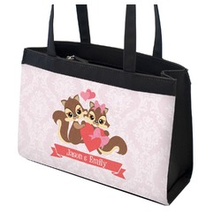Chipmunk Couple Zippered Everyday Tote (Personalized)