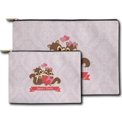 Chipmunk Couple Zipper Pouch (Personalized)