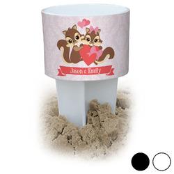 Chipmunk Couple Beach Spiker Drink Holder (Personalized)