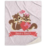 Chipmunk Couple Sherpa Throw Blanket (Personalized)