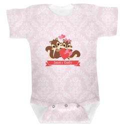 Chipmunk Couple Baby Bodysuit (Personalized)