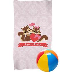 Chipmunk Couple Beach Towel (Personalized)