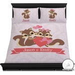 Chipmunk Couple Duvet Covers (Personalized)