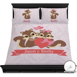 Chipmunk Couple Duvet Cover Set (Personalized)