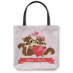 Chipmunk Couple Canvas Tote Bag (Personalized)