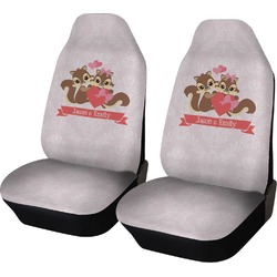 Chipmunk Couple Car Seat Covers (Set of Two) (Personalized)