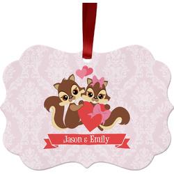 Chipmunk Couple Ornament (Personalized)