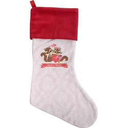 Chipmunk Couple Christmas Stocking (Personalized)