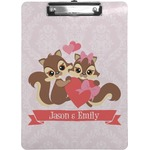 Chipmunk Couple Clipboard (Personalized)