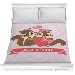 Chipmunk Couple Comforter (Personalized)