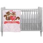 Chipmunk Couple Crib Comforter / Quilt (Personalized)