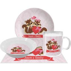 Chipmunk Couple Dinner Set - 4 Pc (Personalized)