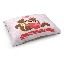 Chipmunk Couple Dog Bed (Personalized)