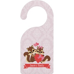 Chipmunk Couple Door Hanger (Personalized)