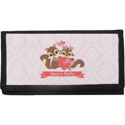 Chipmunk Couple Canvas Checkbook Cover (Personalized)