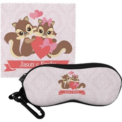 Chipmunk Couple Eyeglass Case & Cloth (Personalized)