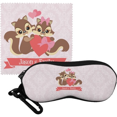 Chipmunk Couple Eyeglass Case & Cloth (Personalized)