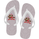 Chipmunk Couple Flip Flops (Personalized)