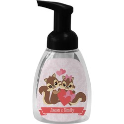 Chipmunk Couple Foam Soap Dispenser (Personalized)
