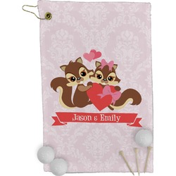 Chipmunk Couple Golf Towel - Full Print (Personalized)