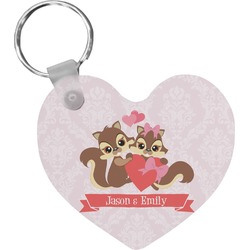 Chipmunk Couple Heart Keychain (Personalized)
